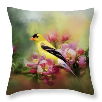 A Splash Of Joy Bird Art Throw Pillow