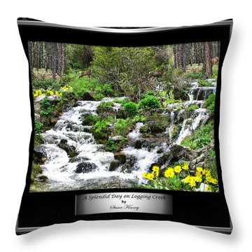 Throw Pillow featuring the photograph A Splendid Day On Logging Creek by Susan Kinney