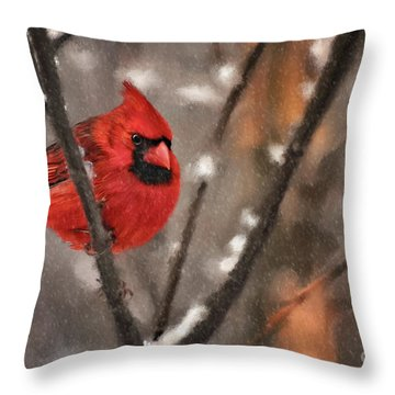 Throw Pillow featuring the digital art A Spot Of Color by Lois Bryan