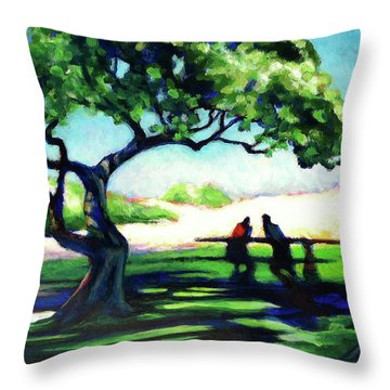 A Spot Of Sun Throw Pillow