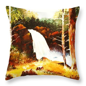 A Spout In The Forest Ll Throw Pillow by Al Brown