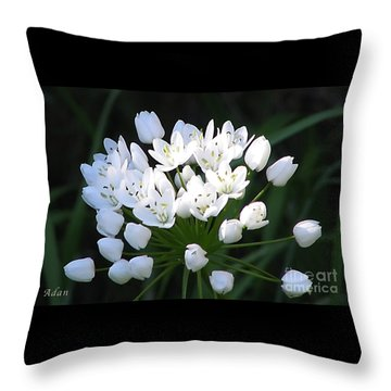 Throw Pillow featuring the photograph A Spray Of Wild Onions by Felipe Adan Lerma