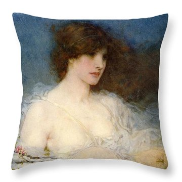 A Spring Idyll Throw Pillow by George Henry Boughton