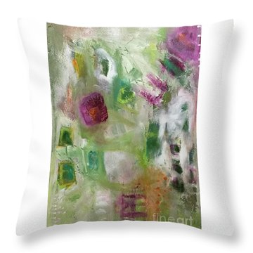 A Spring In Her Step Throw Pillow by Gail Butters Cohen