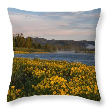 A Spring Morning Throw Pillow