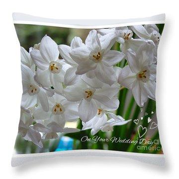 A Spring Wedding Throw Pillow