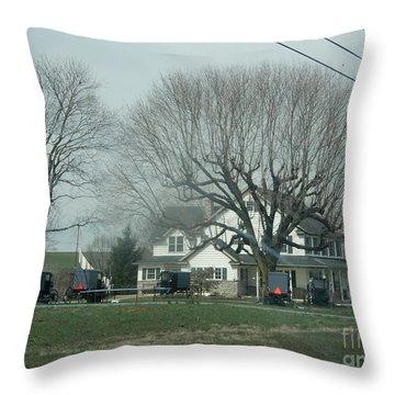A Springtime Gathering Throw Pillow