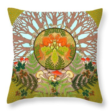 A Squirrel's Tale Throw Pillow by Isobel Brook Haslam