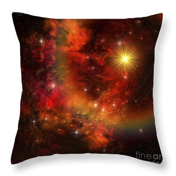 A Star Explodes Sending Out Shock Waves Throw Pillow by Corey Ford
