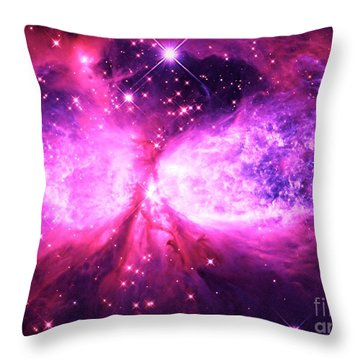 A Star Is Born Pink Purple Throw Pillow
