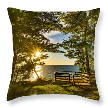 A Sterling Sunset Throw Pillow