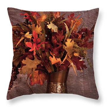 A Still Life For Autumn Throw Pillow