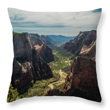A Storm Is A' Brewing Throw Pillow