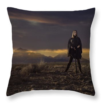 Throw Pillow featuring the photograph A Storms Brewing by Ryan Smith