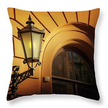 A Street Lamp In Lisbon Portugal  Throw Pillow
