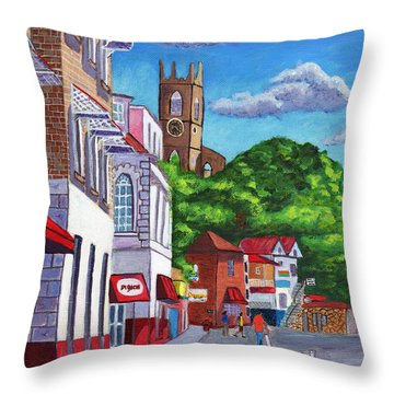 A Stroll On Melville Street Throw Pillow