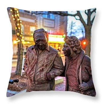 A Stroll Through Davis Square Somerville Ma Throw Pillow
