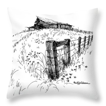 A Strong Fence And Weak Barn Throw Pillow