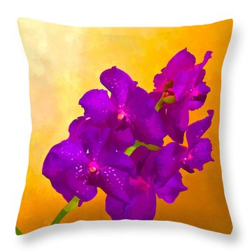 A Study In Orchid Throw Pillow