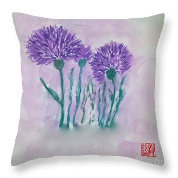 A Study In Purple Throw Pillow