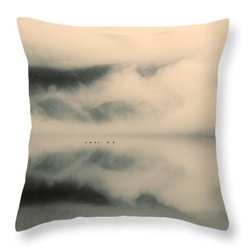 A Study Of Clouds Throw Pillow by Tara Turner