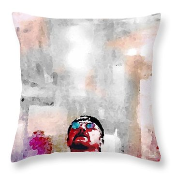 A Study Of Shadow Throw Pillow