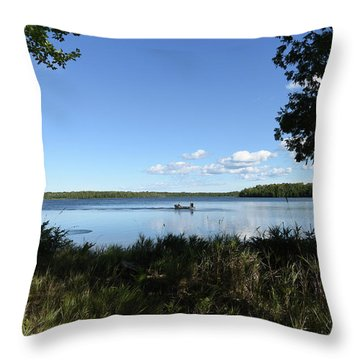 Throw Pillow featuring the photograph A Successful Day by Sally Sperry