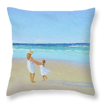 A Summer Dance Throw Pillow