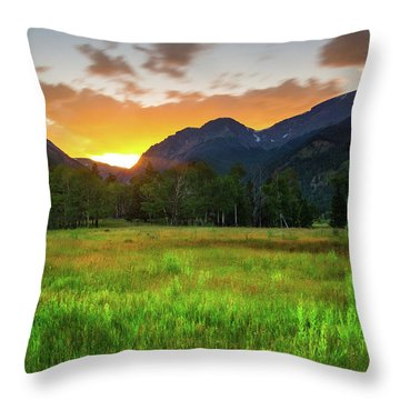 Throw Pillow featuring the photograph A Summer Evening In Colorado by John De Bord