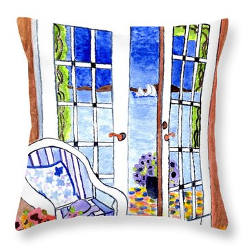 A Summers Afternoon Throw Pillow