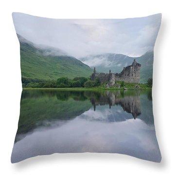 A Summers Morning At Kilchurn Throw Pillow