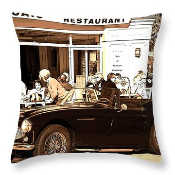A Sunday In France Poster Throw Pillow