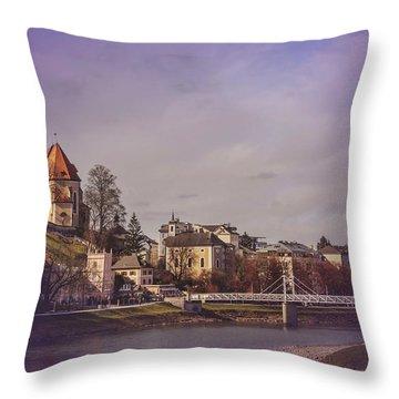 A Sunday Stroll In Salzburg Throw Pillow