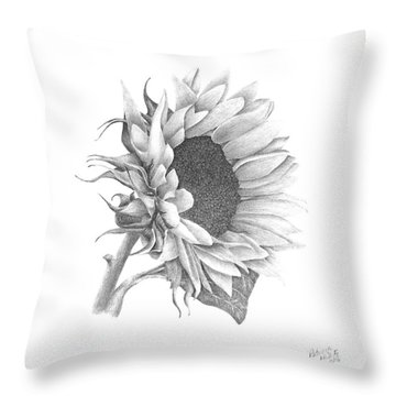 A Sunflowers Beauty Throw Pillow by Patricia Hiltz