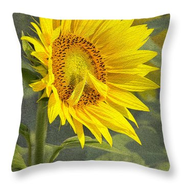 A Sunflower's Prayer Throw Pillow