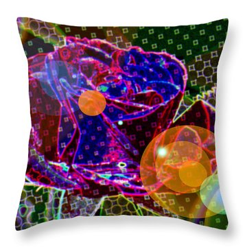 A Sunlit Blossom  Throw Pillow by Jeff Swan