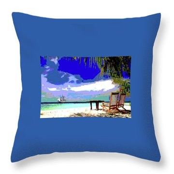 A Sunny Day At The Beach Throw Pillow