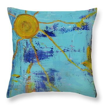 A Sunny Day Throw Pillow