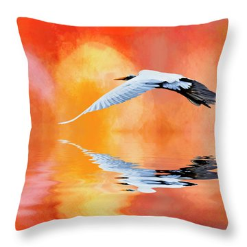 A Sunny Morning Throw Pillow by Cyndy Doty