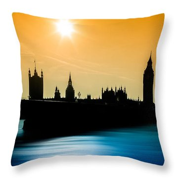 A Sunny Shape Throw Pillow