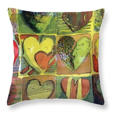 A Sunny Valentine Throw Pillow by Mindy Newman