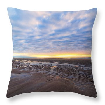 A Sunrise As Wide As The Sea Throw Pillow by Mary Lou Chmura