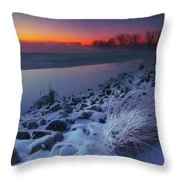 A Sunrise Cold Throw Pillow