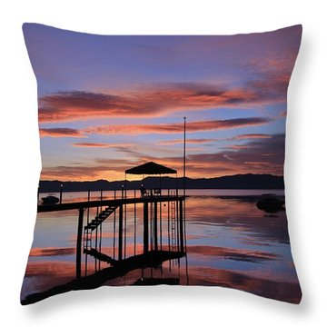 Throw Pillow featuring the photograph A Sunrise To Wake The Dead  by Sean Sarsfield