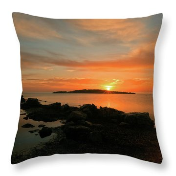A Sunset In Ibiza Throw Pillow