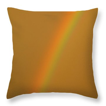 A Sunset Rainbow Throw Pillow