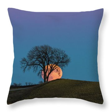 A Super Evening Throw Pillow