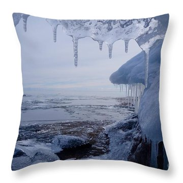 A Superior Ice Cave Throw Pillow by Sandra Updyke