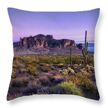 A Superstitious Evening  Throw Pillow