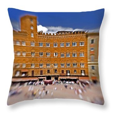 A Surreal Siena Throw Pillow by Marilyn Hunt